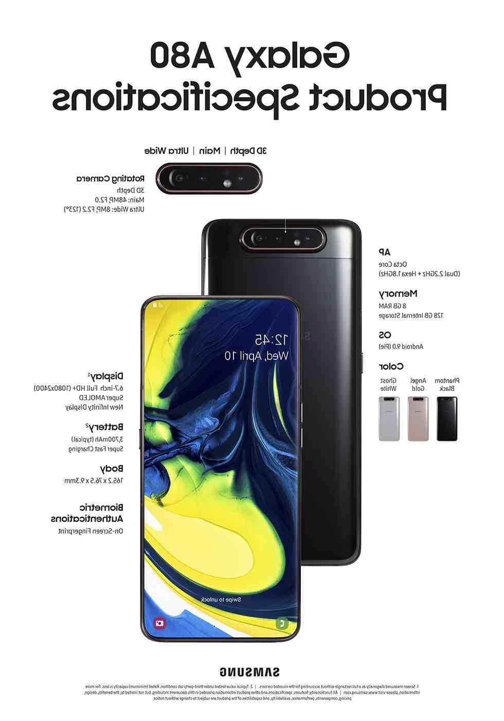 Galaxy A82 : Samsung abandonnerait l'APN rotatif