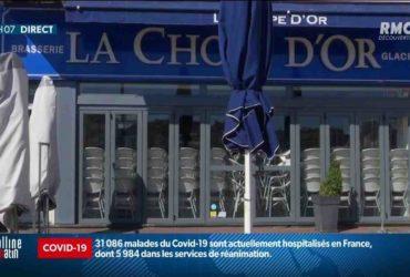 Emmanuel Macron et Jean Castex s'offrent un café en terrasse ce mercredi matin