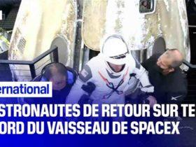 Retour sur Terre du vaisseau SpaceX avec les astronautes de l'ISS