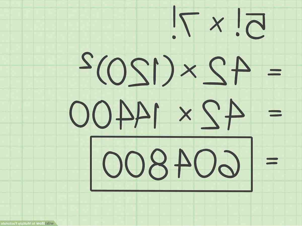 Comment  Calculer des factorielles
