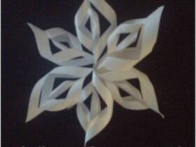 Comment  Faire un flocon de neige en 3D en papier
