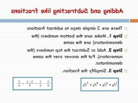 Comment  Soustraire des fractions