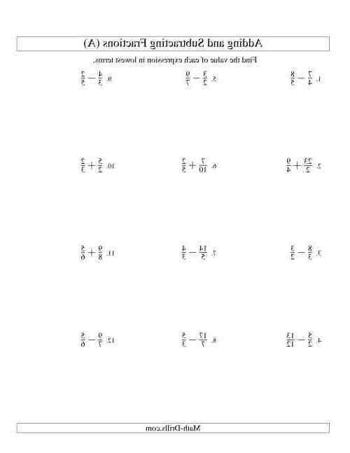 Comment soustraire des fractions qui n'ont pas le même dénominateur ?