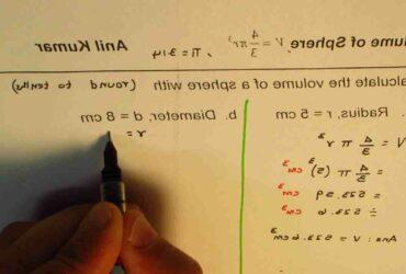 Comment  Calculer le volume d'une sphère