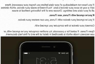 Comment  Déverrouiller un téléphone quand on a oublié son mot de passe