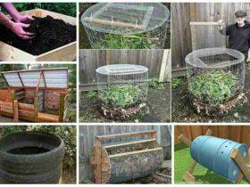 Comment  Fabriquer une poubelle à compost