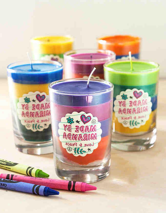 Comment  Faire des bougies à partir de craies grasses