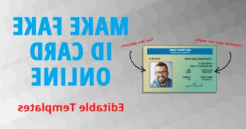 Comment  Faire une fausse carte d'identité