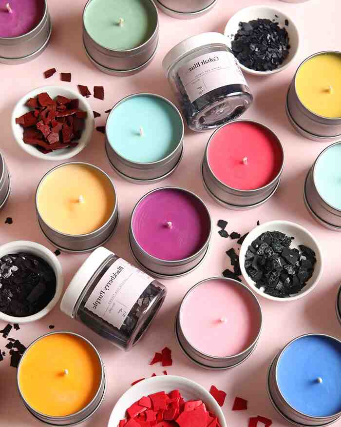 Comment colorer une bougie naturellement ?