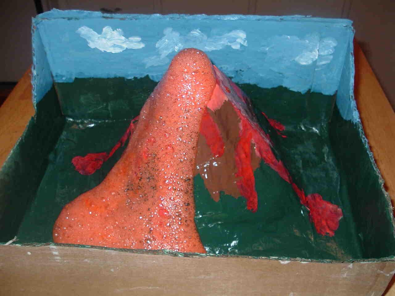 Comment faire de la lave pour une maquette de volcan ?