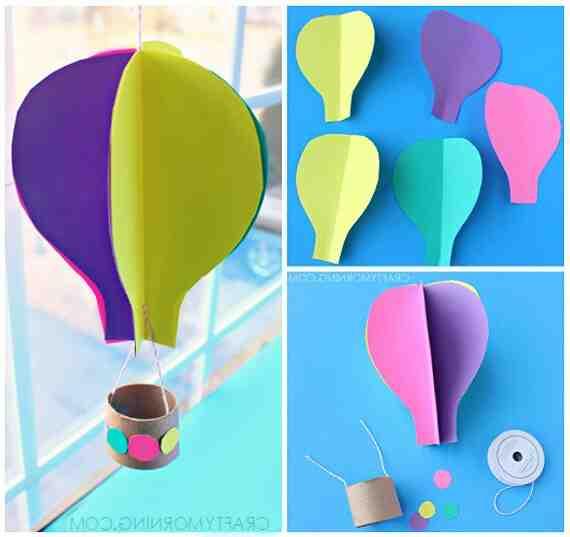 Comment faire une montgolfière en papier ?